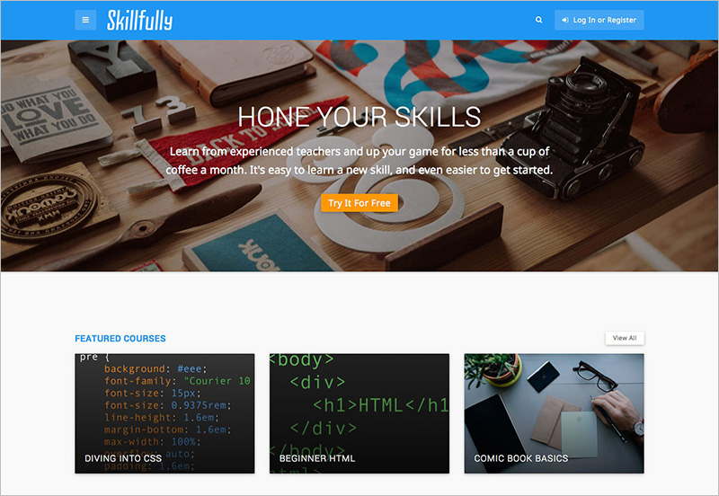 Wordpress Online Learning Theme