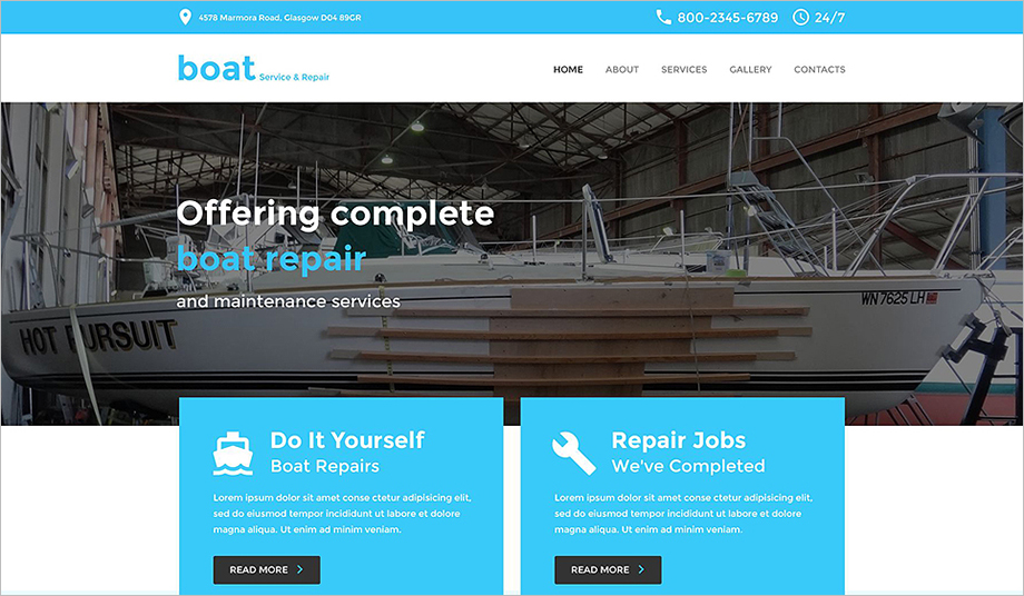 Yachting Responsive Bootstrap HTML Template