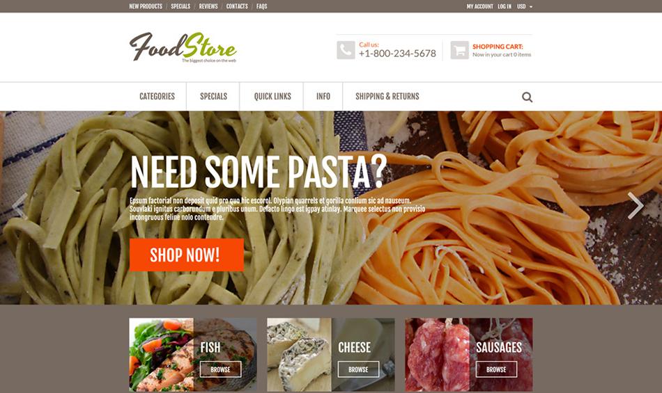 Zen Cart Online Grocery Template Buld On HTML5,CSS3,JQuery