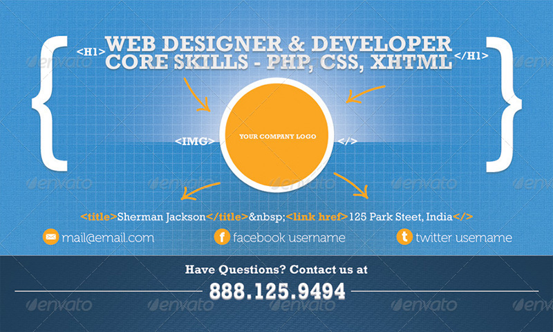developer business card design