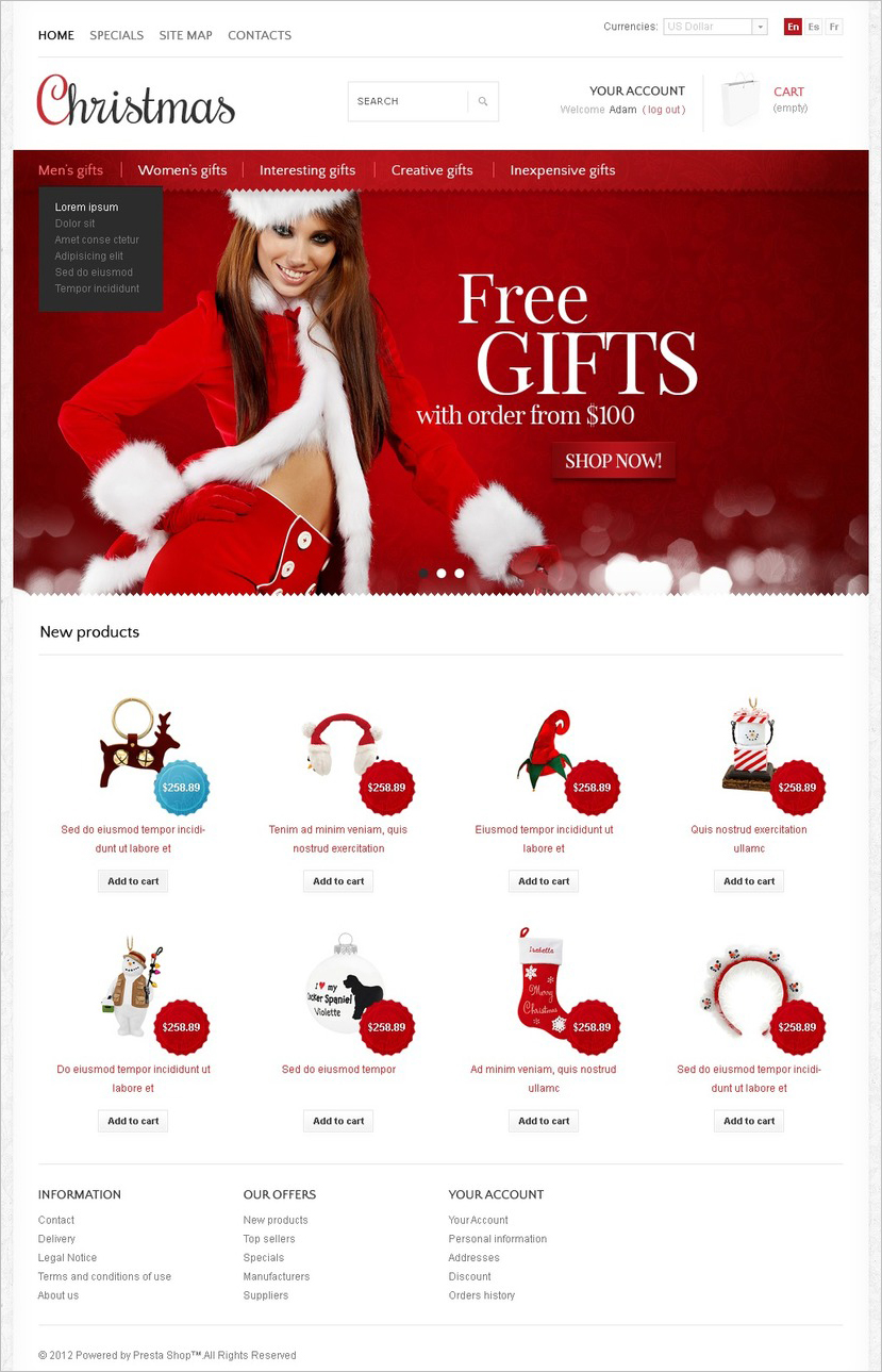eCommerce Christmas store Template