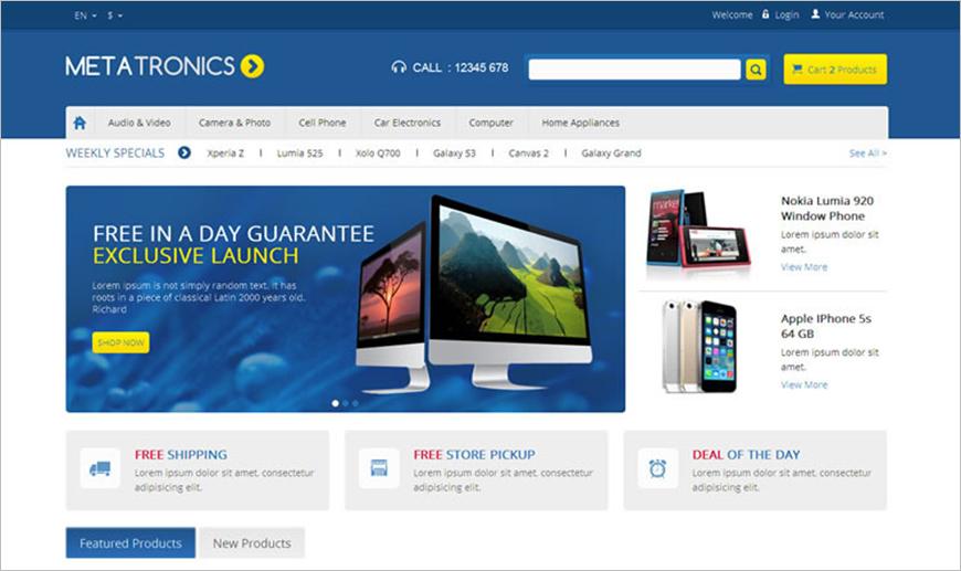 eCommerce Electronics Prestashop Responsive Theme