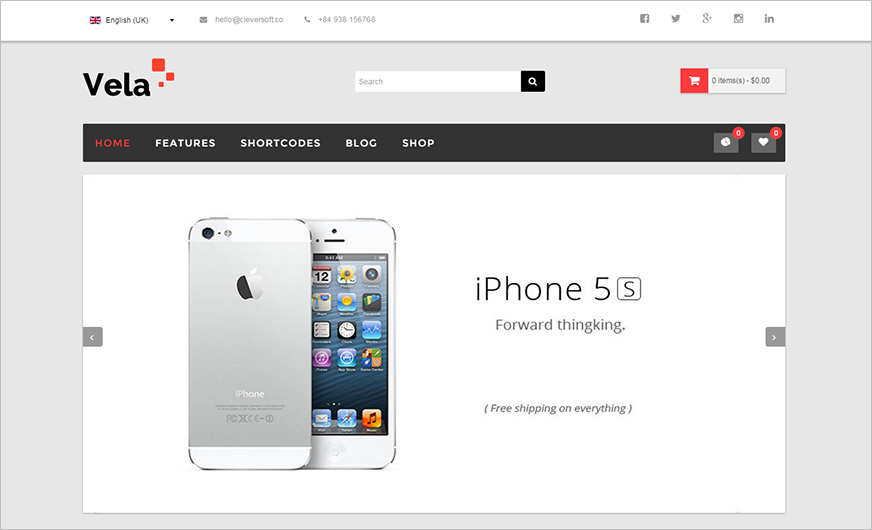 eCommerce Responsive VirtueMart Template With HTML5&CSS3 Animations