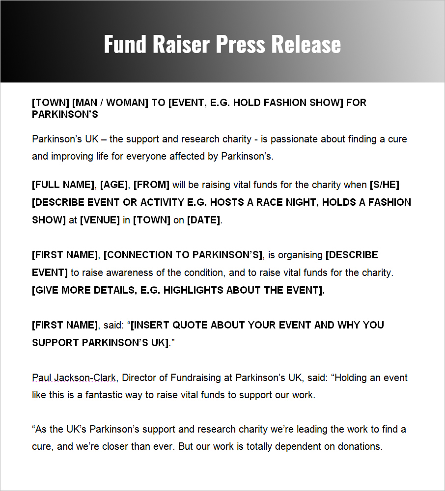 Press Release Templates Free Word, PDF, Doc Formats