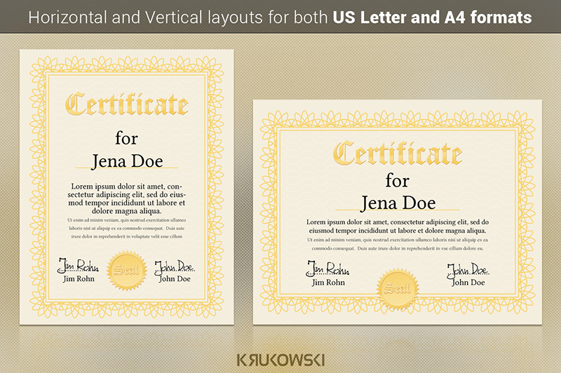 staff appreciation certificates