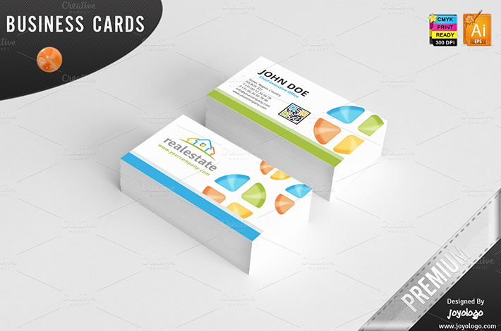 3D Real Estate Business Cards Design