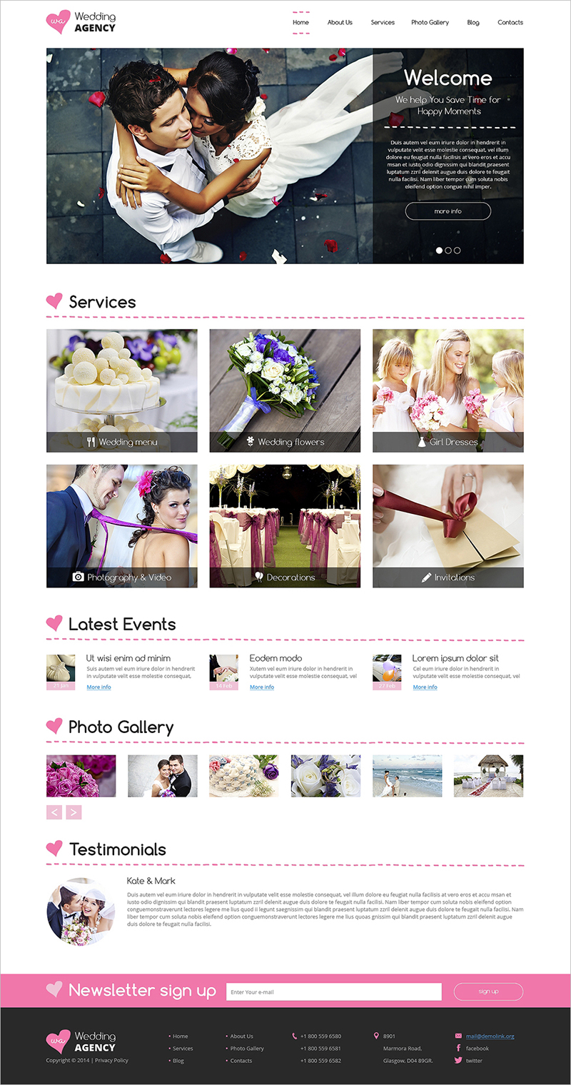 Dating and Romance Drupal Template