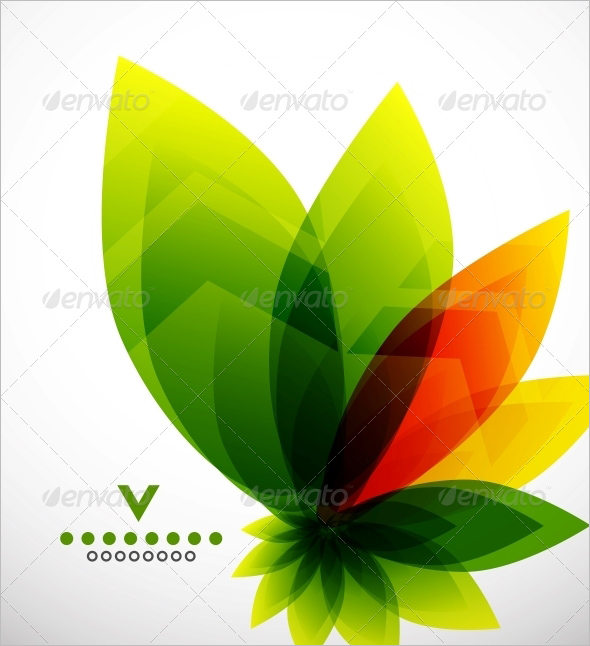 Abstract Flower Design Template