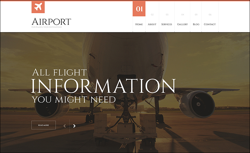 Airline Responsive WordPress Theme