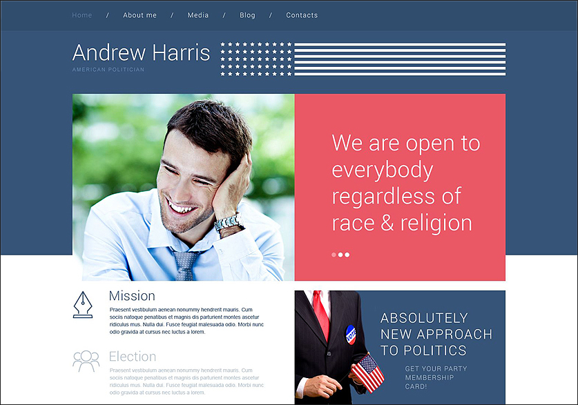 American Politician WordPress Theme