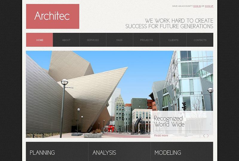 Architec Joomla Business Website Template