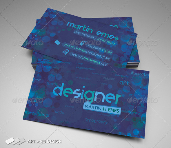 Art and Design Business Card