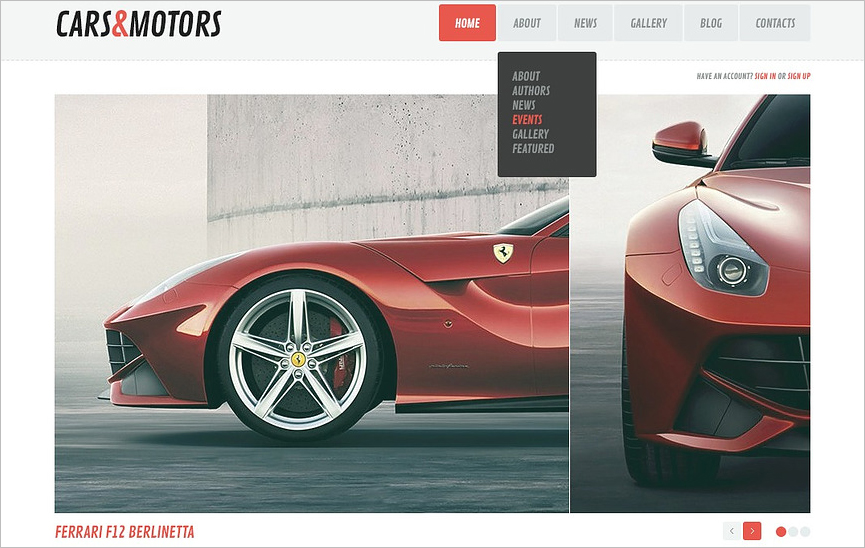 Automobile Magazine Blog WordPress Theme