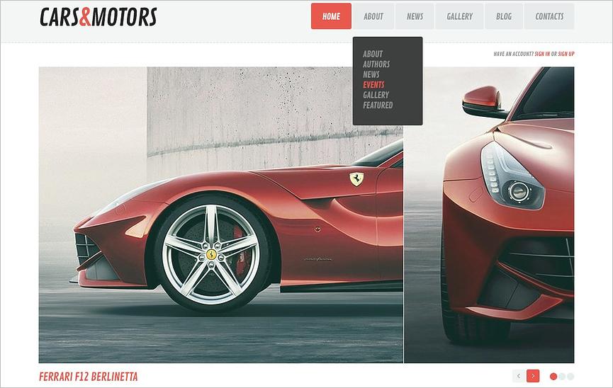 Automobile Magazine Blog WordPress Theme