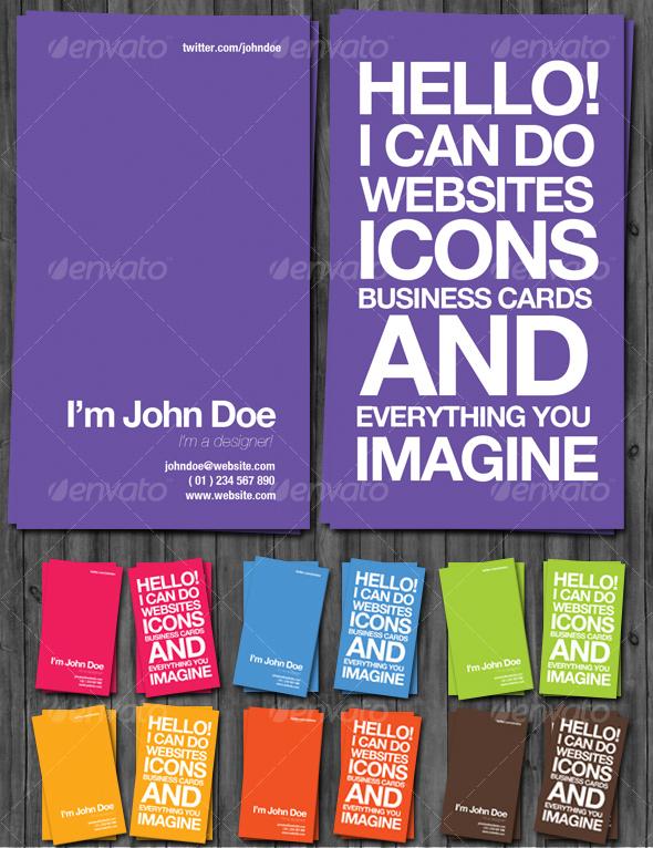 Awesome Designer Business Cards