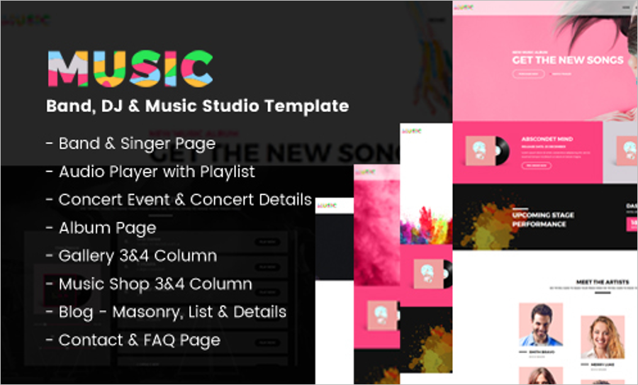 Band Music HTML5 Template