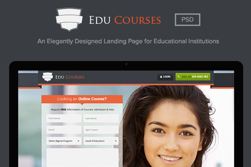 Beautiful Landing Page PSD Template
