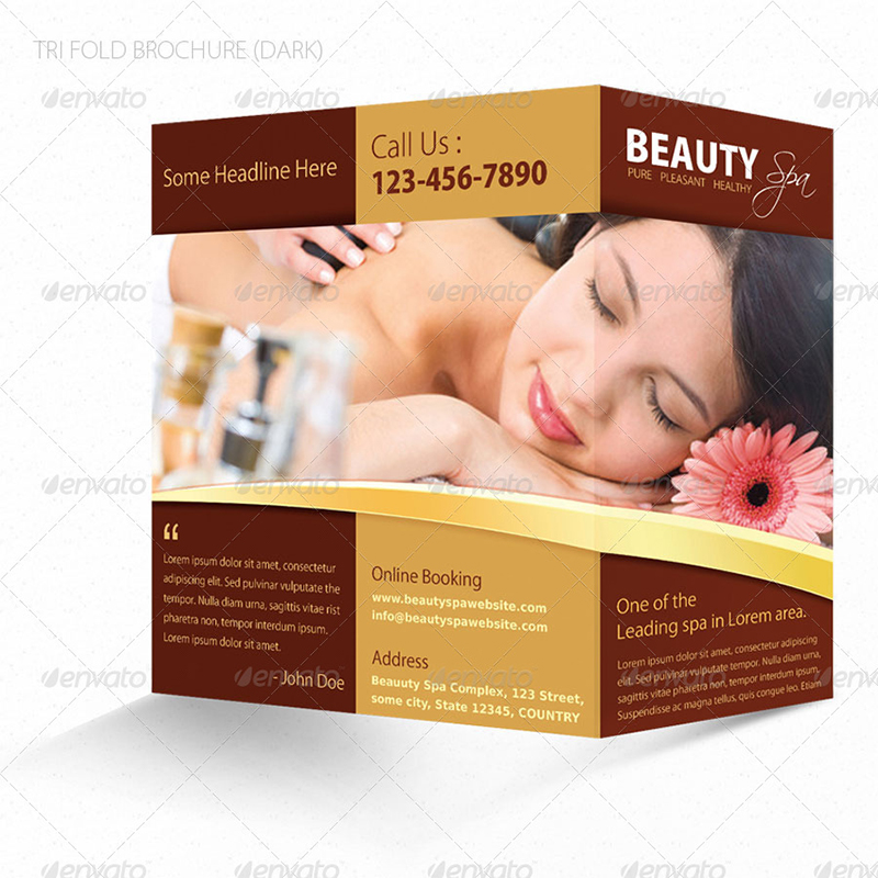 beauty brochure templates - spa brochure templates free premium templates