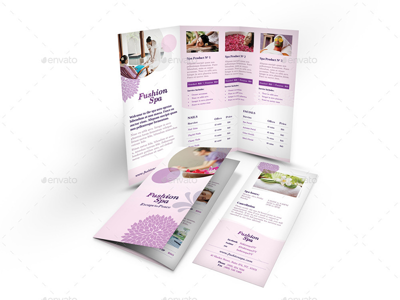 Spa Brochure Templates Free Premium Templates - Free spa brochure templates