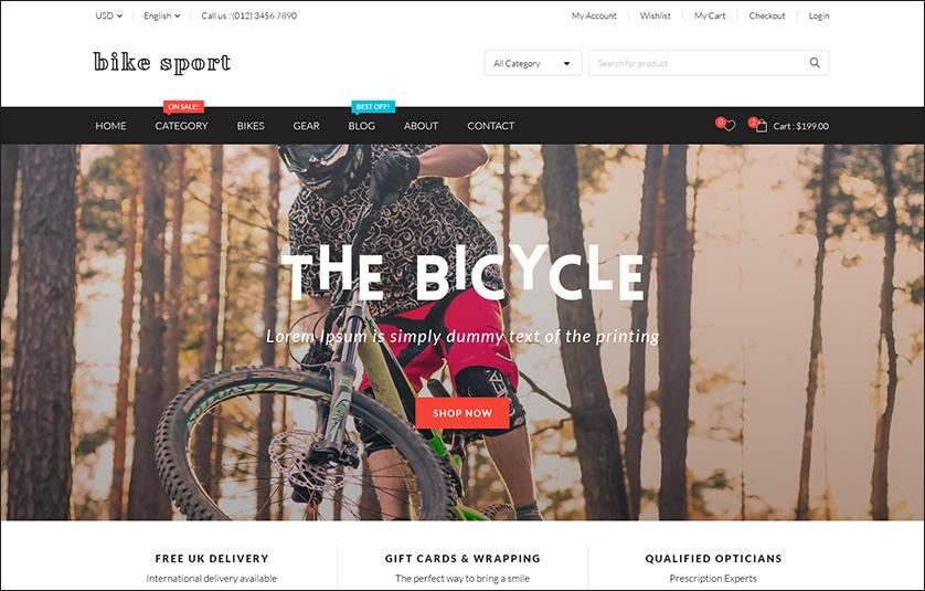 Bike Sport WordPress Template