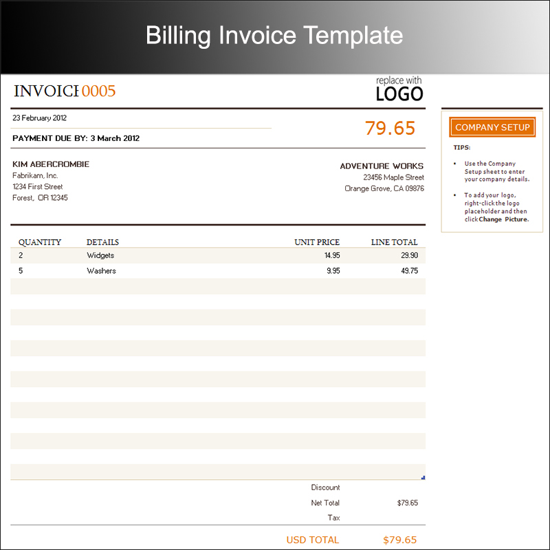 Free Invoice Templates PDF Word Excel Format Creative Template - Templates for billing invoice