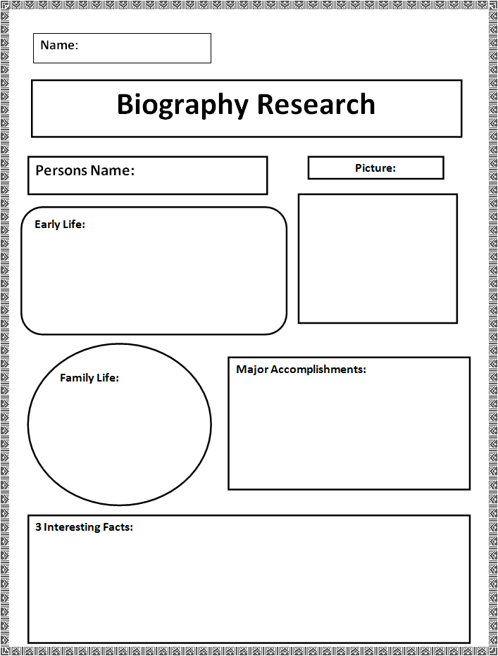 Biography Templates  Free Word  Documents  Creative Template