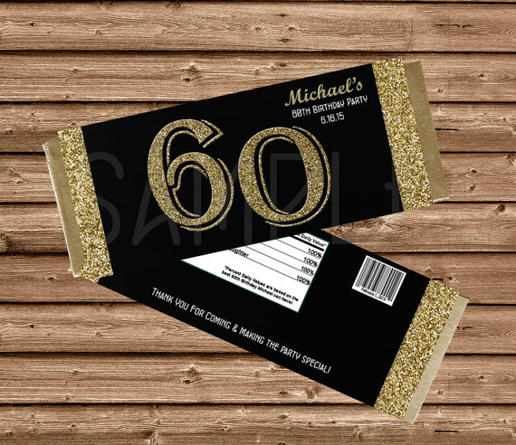 Birthday Candy Bar Wrapper Template
