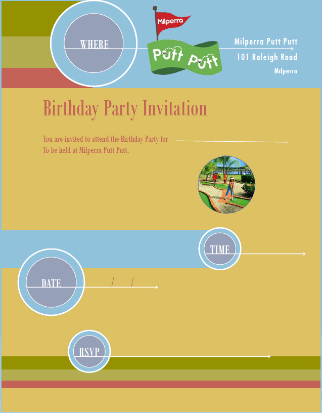 Birthday Invitation Template PDF