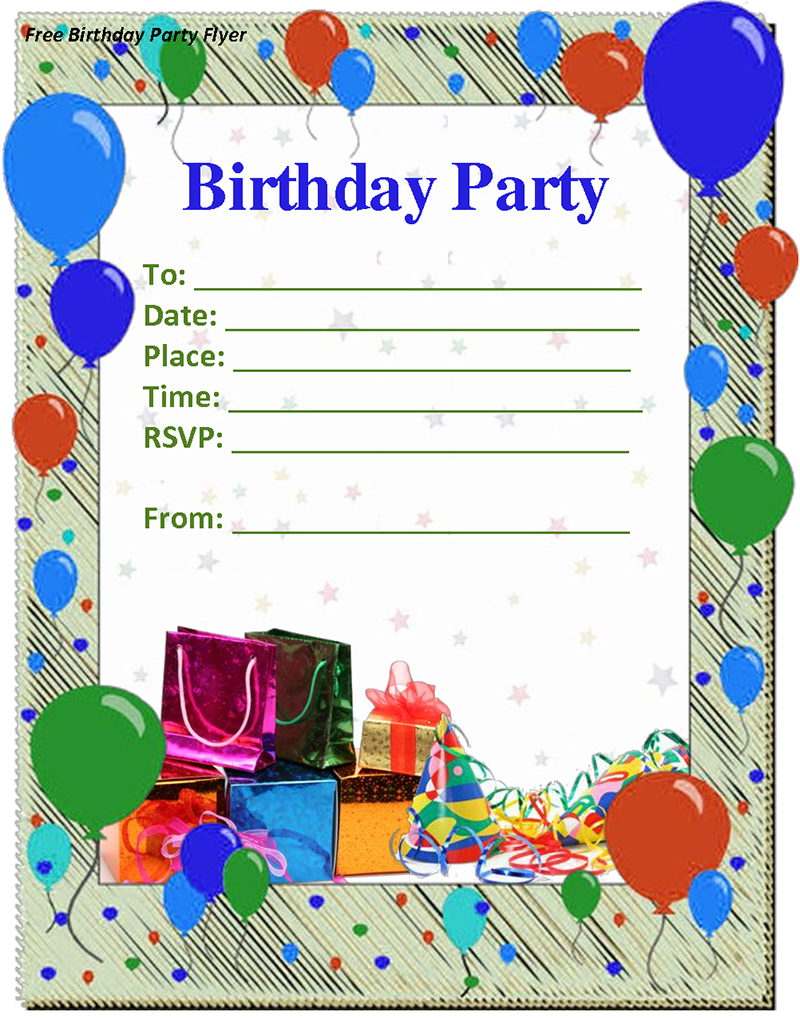 Birthday Invitation Template Sample ...  Free Birthday Party Invitation Template