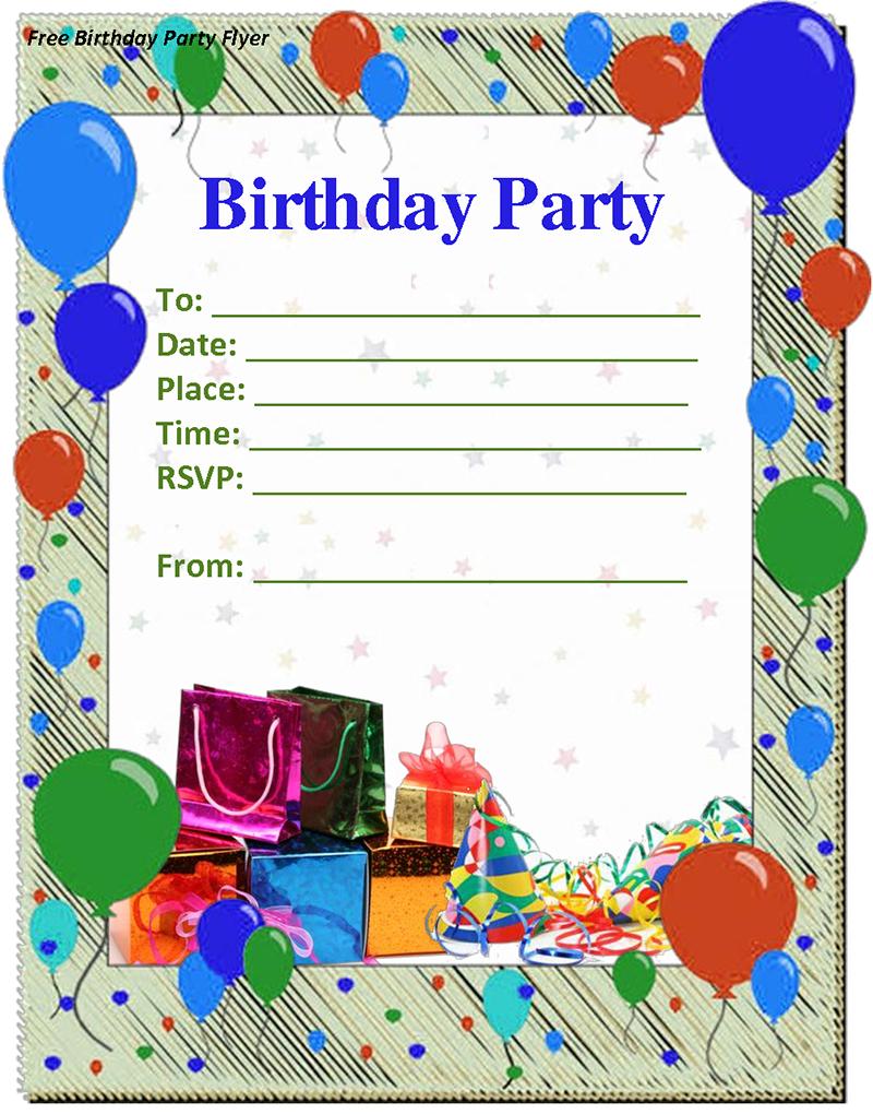 9 birthday party invitation templates free word designs