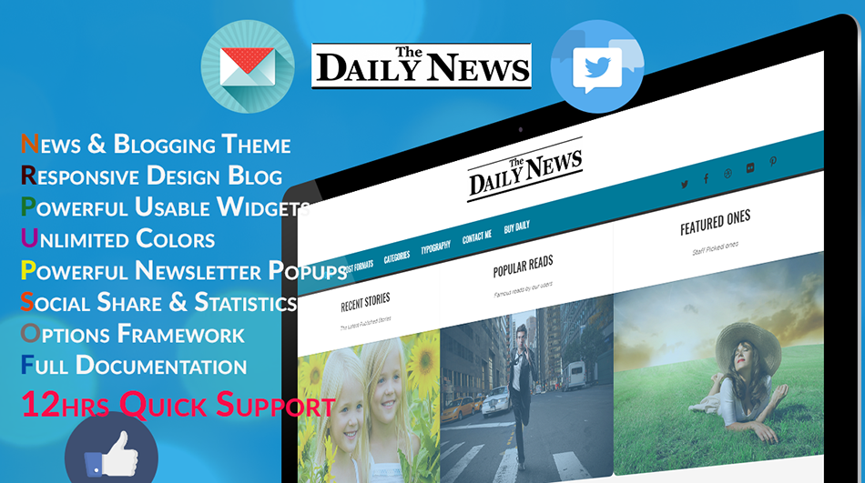 Blog & News WordPress Theme