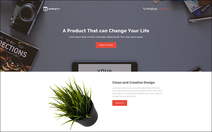 Bootstrap Landing Page Template With Dynamic Scripts