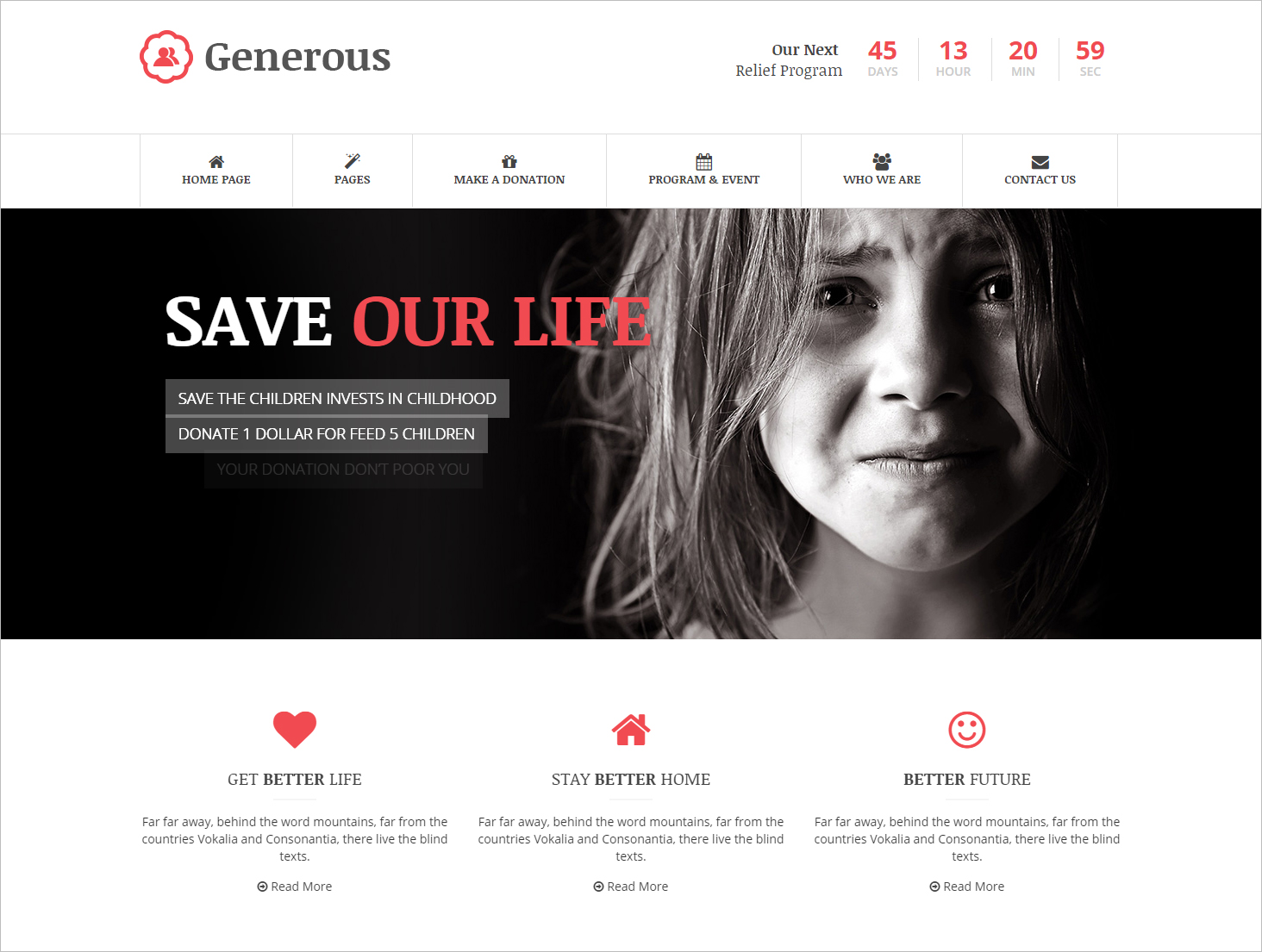 Bootstrap Responsive Charity HTML Template