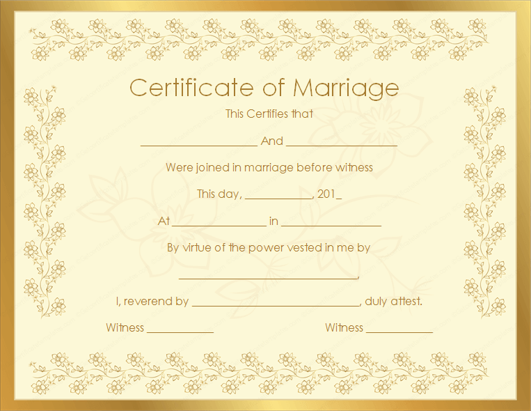 12+ Marriage Certificate Templates Free Download | Creative Designs
