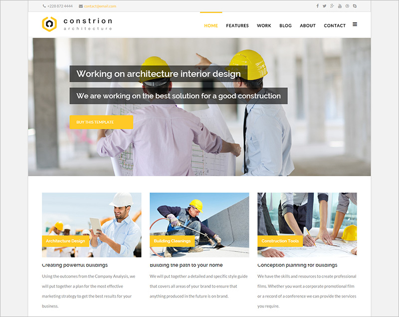 20 responsive construction joomla templates free website for Joomla template builder software