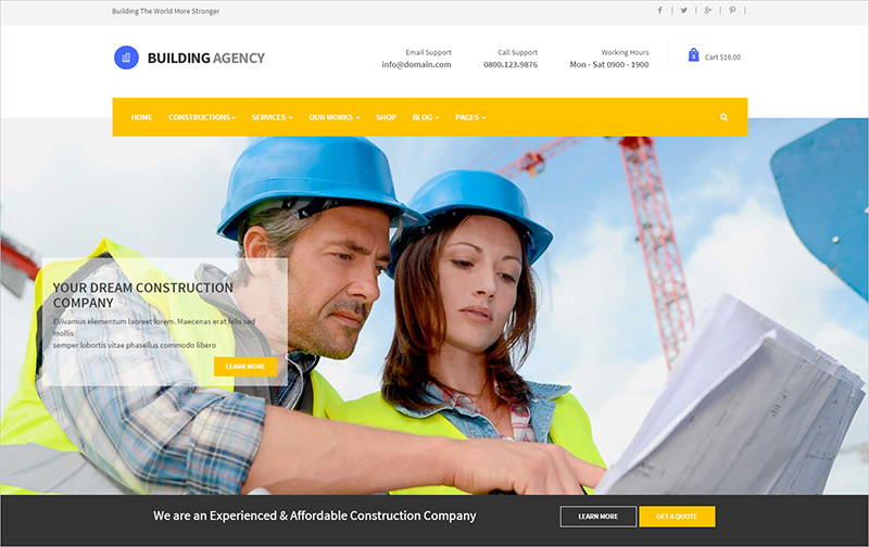 Building Agency Website Template
