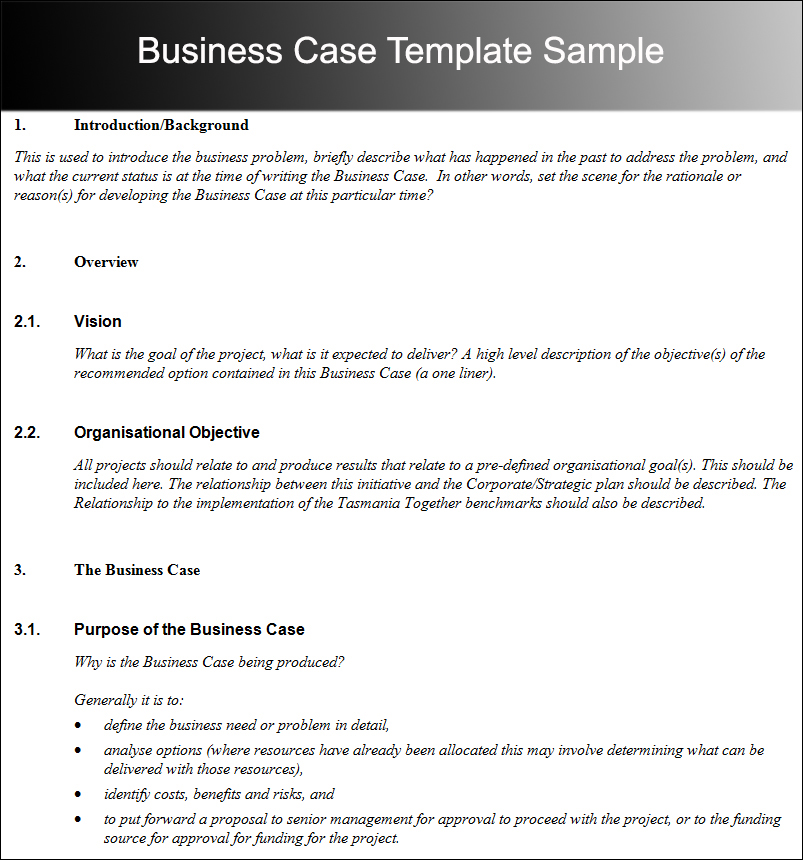 8 business case template free word pdf excel doc formats sample business case template wajeb Image collections