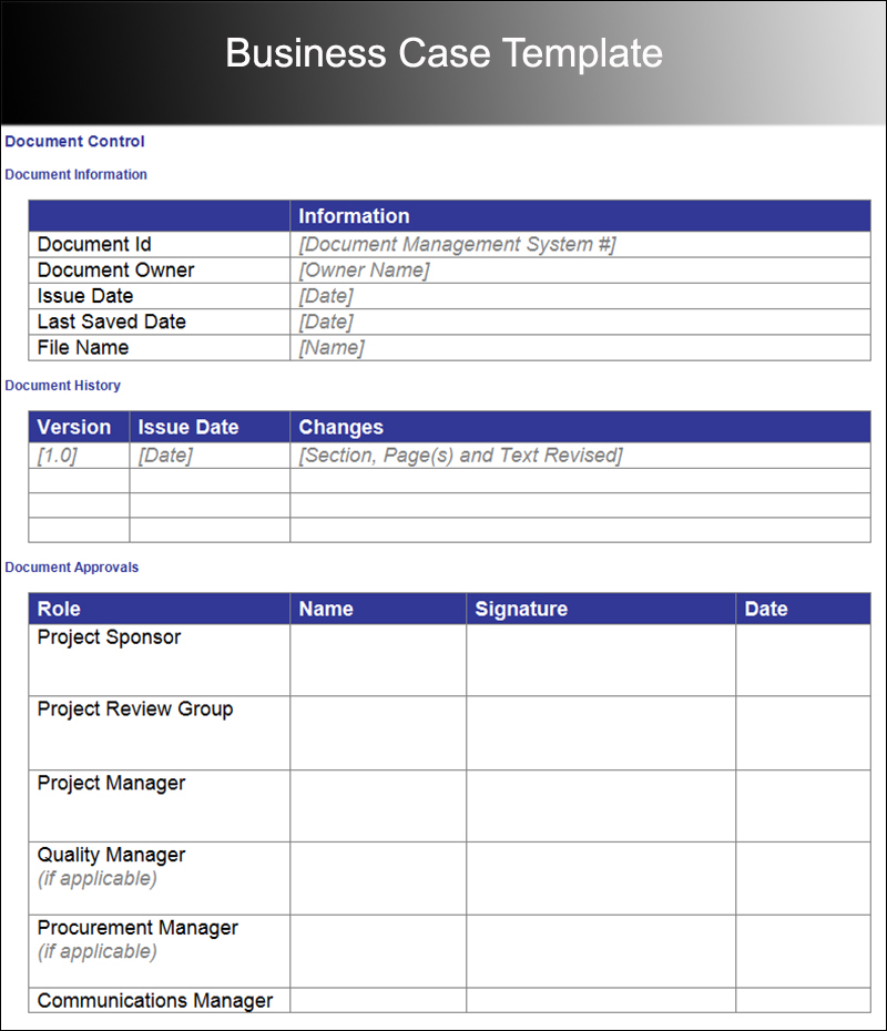 Business Case Template U2013 Free Word, PDF Documents  Free Business Proposal Template Download