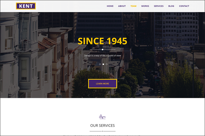 Business HTML5 & CSS3 Template With Video Background