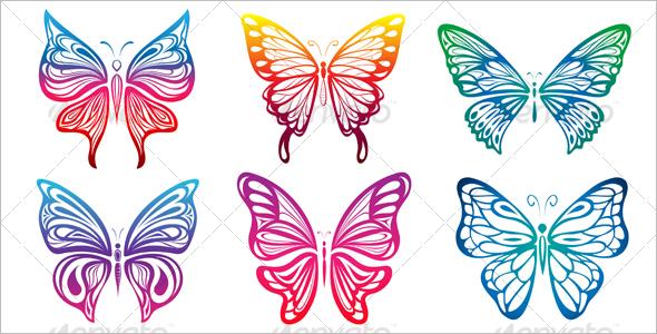Attractive Butterflies Vector Download Butterflies Vector Download