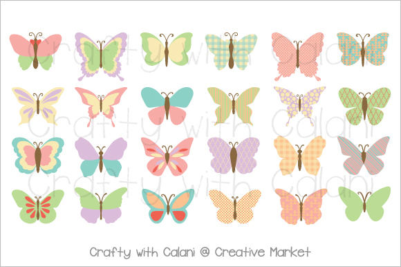 Butterfly Clipart Template