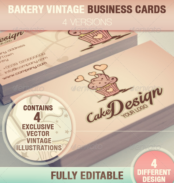 Cake Design Business Cards