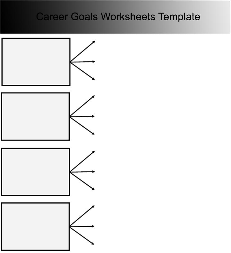 Career goals worksheet templates