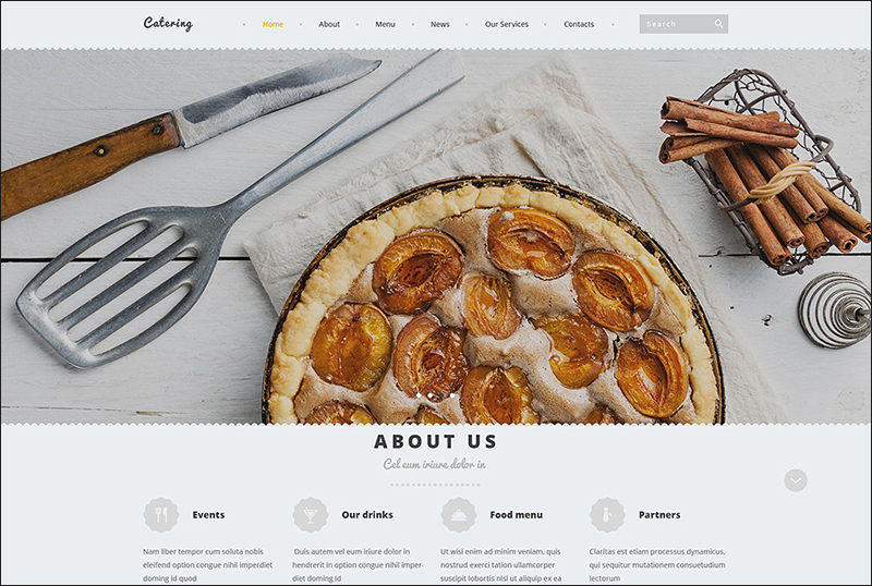 Catering Parallax Joomla Template