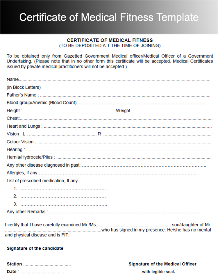 Medical Certificate Template. Medical-Certificate-Template Medical