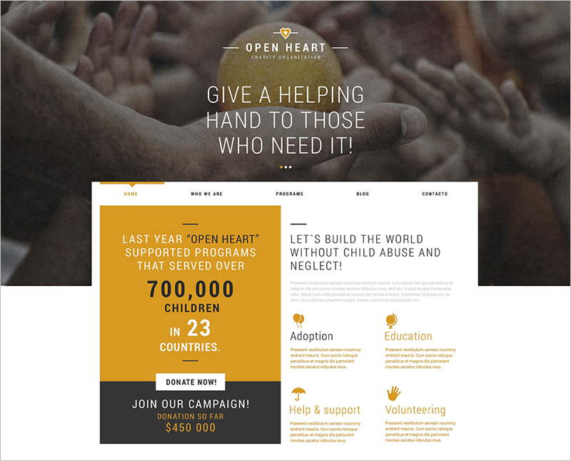 Charity Donation Joomla Template