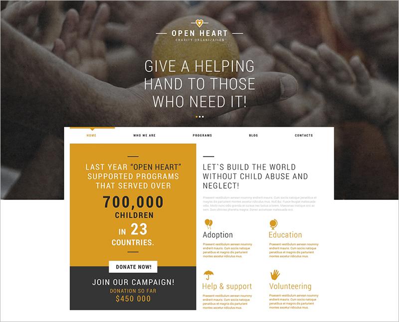 Charity Donation Joomla Template