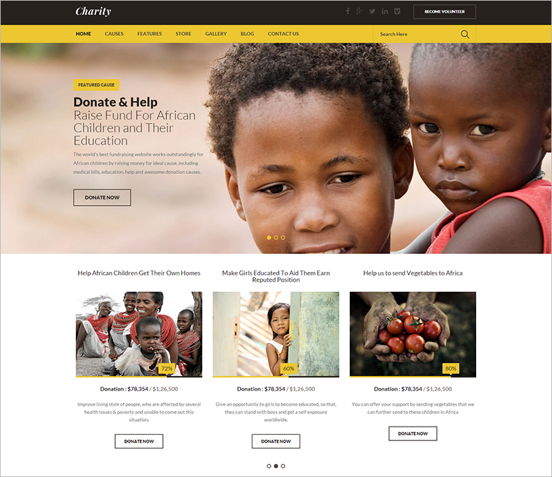 Charity HTML Theme