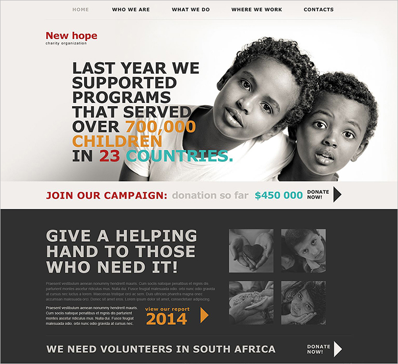 Charity HTML5 CSS3 Website Template