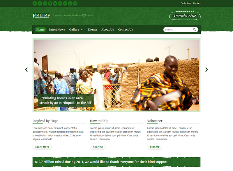 Charity Responsive HTML Template